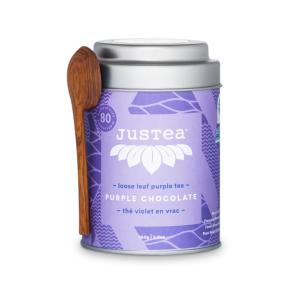 Purple Chocolate loose leaf tea by JusTea on Rosette Fair Trade online store