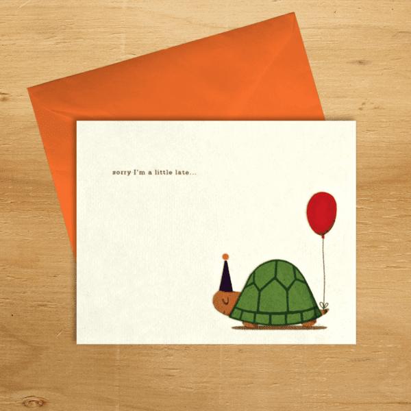 Fair trade belated birthday handmade card by Good Paper on Rosette Fair Trade