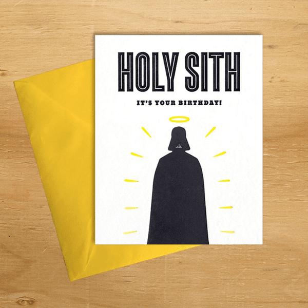 Fair trade holy Sith birthday handmade card by Good Paper on Rosette Fair Trade