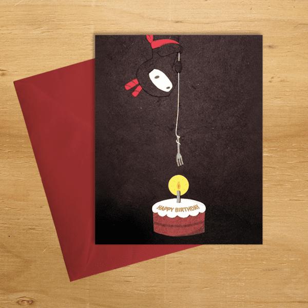 Fair trade ninja birthday handmade card by Good Paper on Rosette Fair Trade