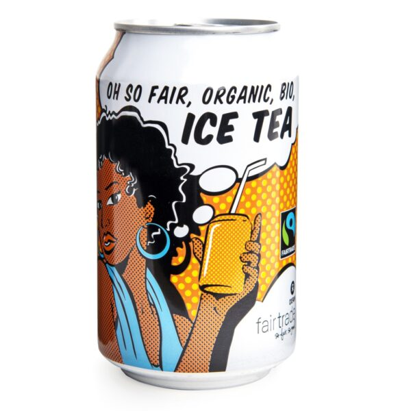 Fair trade iced tea (carbonated) by Oxfam Fair Trade on the Rosette Network online store