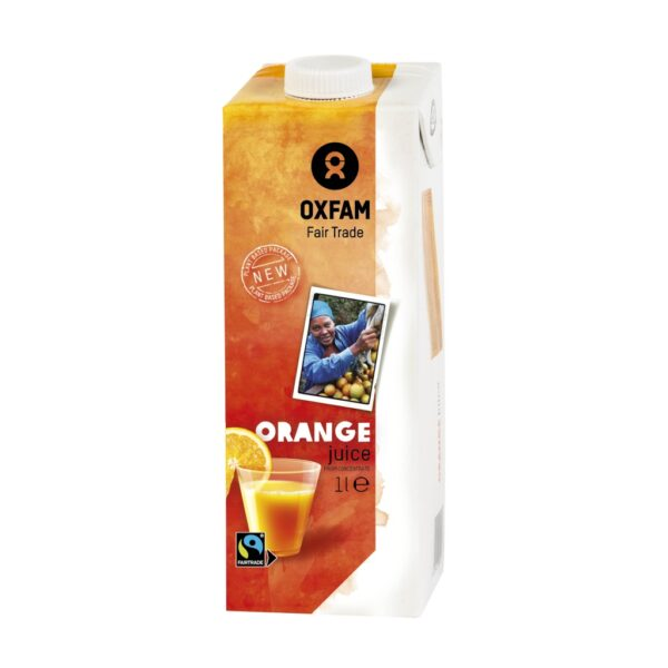 Fair trade orange juice (organic) by Oxfam Fair Trade on the Rosette Network online store