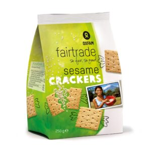 Fair trade sesame crackers by Oxfam Fair Trade on the Rosette Network