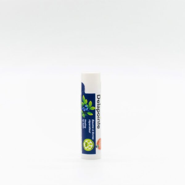 Organic blueberry lip balm by Delapointe on Rosette Fair Trade online store