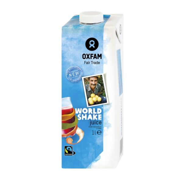 Worldshake fair trade smoothie (juice) by Oxfam Fair Trade on the Rosette Network online store