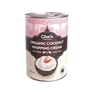 Cha's Organics coconut whipping cream (dairy alternative, vegan) on Rosette Fair Trade online store