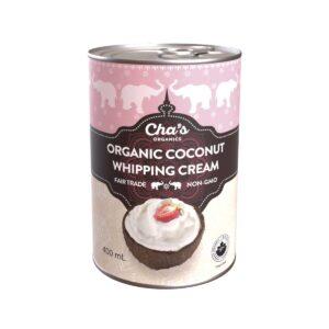 Cha's Organics coconut whipping cream (dairy alternative, vegan) on Rosette Fair Trade online store