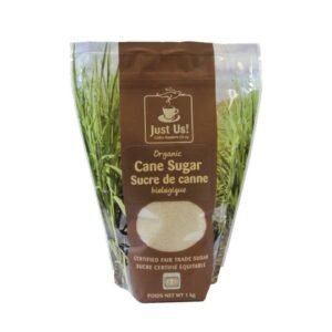 Organic golden cane sugar by Just Us! Coffee Roasters (fair trade) on the Rosette Network
