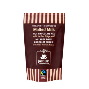 Organic malted milk hot chocolate by Just Us! Coffee Roasters (fair trade) on the Rosette Network