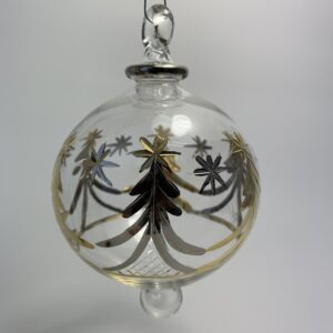 Blown glass ornament - Christmas trees