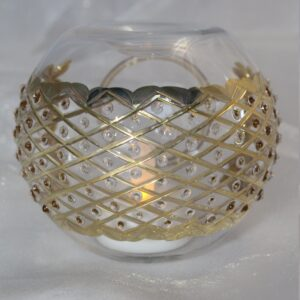 Blown Glass Oil Diffuser - Gold Diamonds