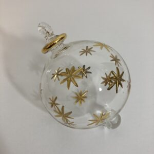 Blown Glass Ornament - Gold Stars