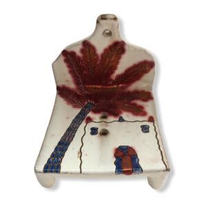 Pottery Soap Holder - Adobe & Palm Tree