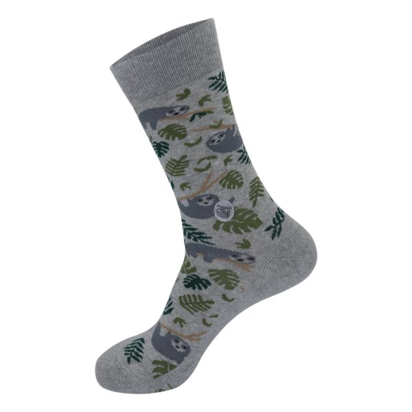 Fairtrade organic cotton socks by Conscious Step that protect sloths (etik & co) on the Rosette Network