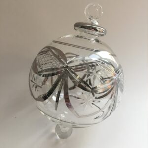 Blown Glass Ornament - Silver Garland