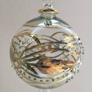 Blown Glass Ornament - Green