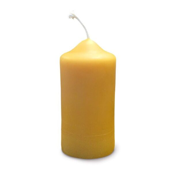 Pure beeswax pillar candle (40 hours burn time) by African Bronze Honey on Rosette Fair Trade