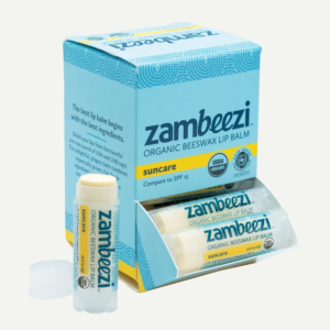 Fair trade organic suncare lip balm by Zambeezi (all natural) on the Rosette Network