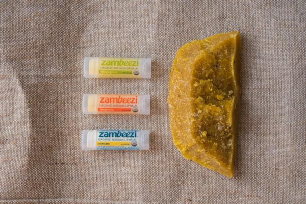 Variety pack of fair trade lip balms (tangerine, lemongrass & suncare) by Zambeezi on the Rosette Network