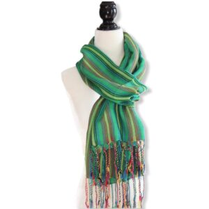 Braids Handwoven Scarf - Green