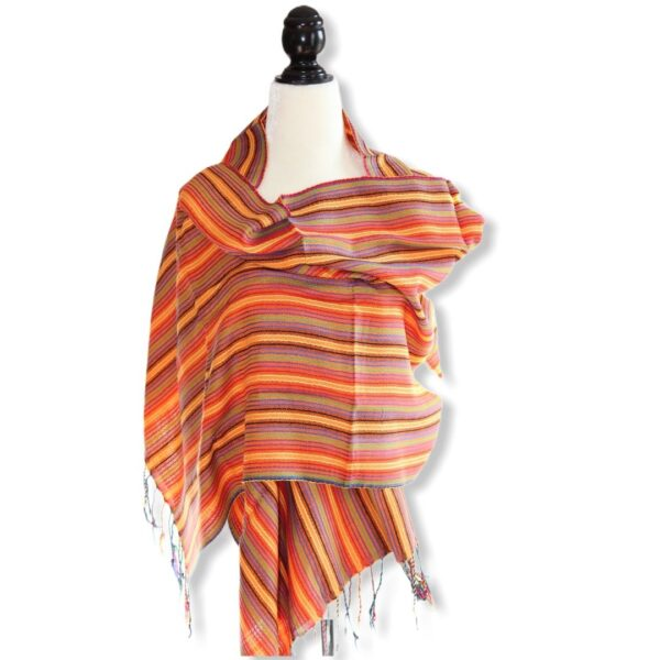 Braids Handwoven Scarf - Orange