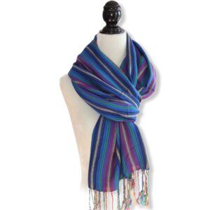Braids Handwoven Scarf - Blue