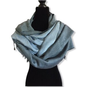 Double-faced Diagonal Shawl - Light Gray