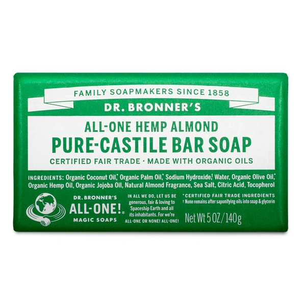 Almond pure castille bar soap by Dr Bronners (fair trade, organic) on the Rosette Network
