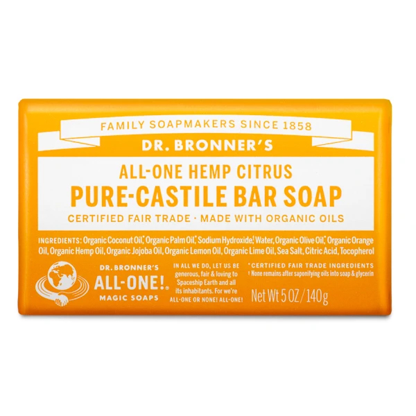 Citrus pure castille bar soap by Dr Bronners (fair trade, organic) on the Rosette Network