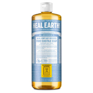 Dr Bronner's baby unscented liquid castille soap (fair trade, organic) on the Rosette Network