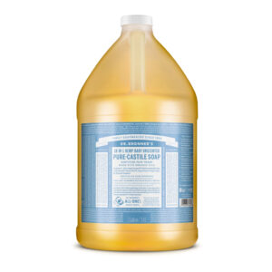 Gallon Dr Bronner's baby unscented liquid castille soap (fair trade, organic) on the Rosette Network