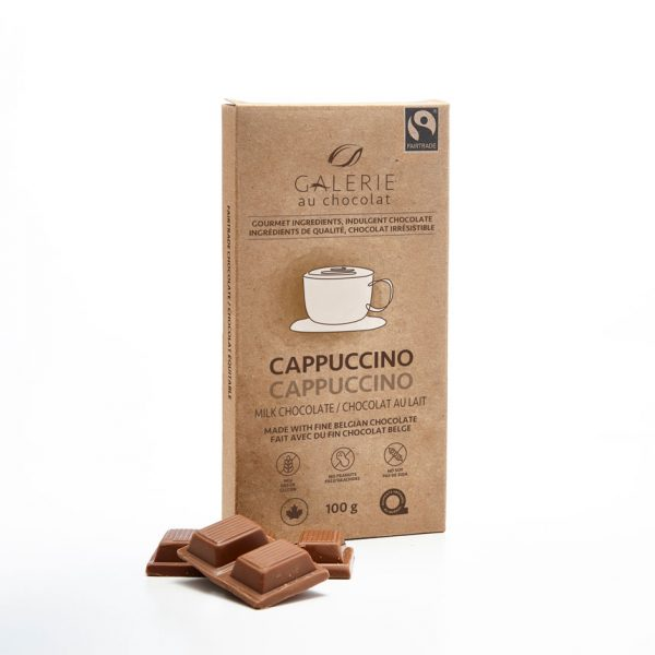 Milk chocolate cappuccino chocolate bar by Galerie au Chocolat (fair trade, organic) on the Rosette Network