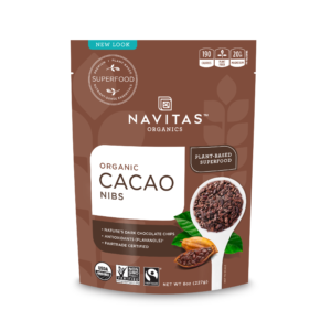 Fairtrade certified cocoa nibs by Navitas Organics on the Rosette Network
