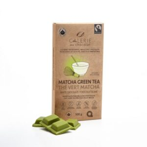 Matcha white chocolate bar by Galerie au Chocolat (fair trade, organic) on the Rosette Network