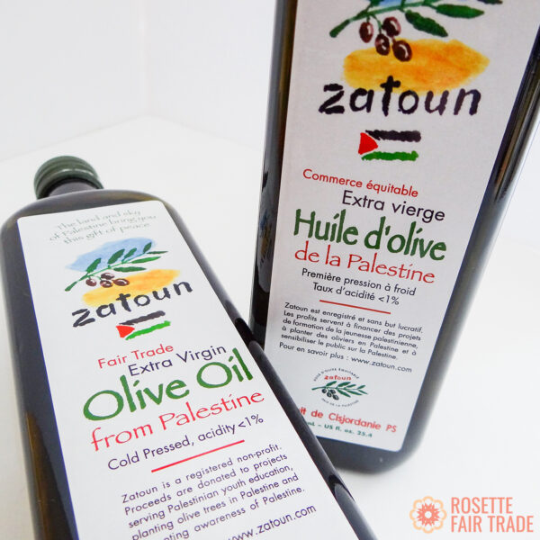 Zatoun Extra Virgin Olive Oil (fair trade, cold pressed) on the Rosette Network online store
