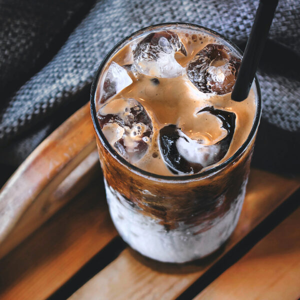 Fair trade coffee (iced coffee with milk)