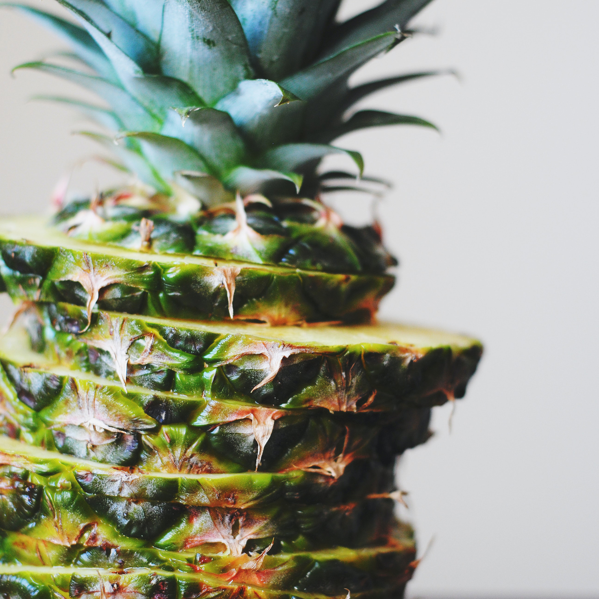 Fair trade pineapple is perfect frozen for using in smoothies