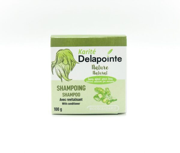 Natural solid shampoo bar by Karite Delapointe on Rosette Fair Trade online store