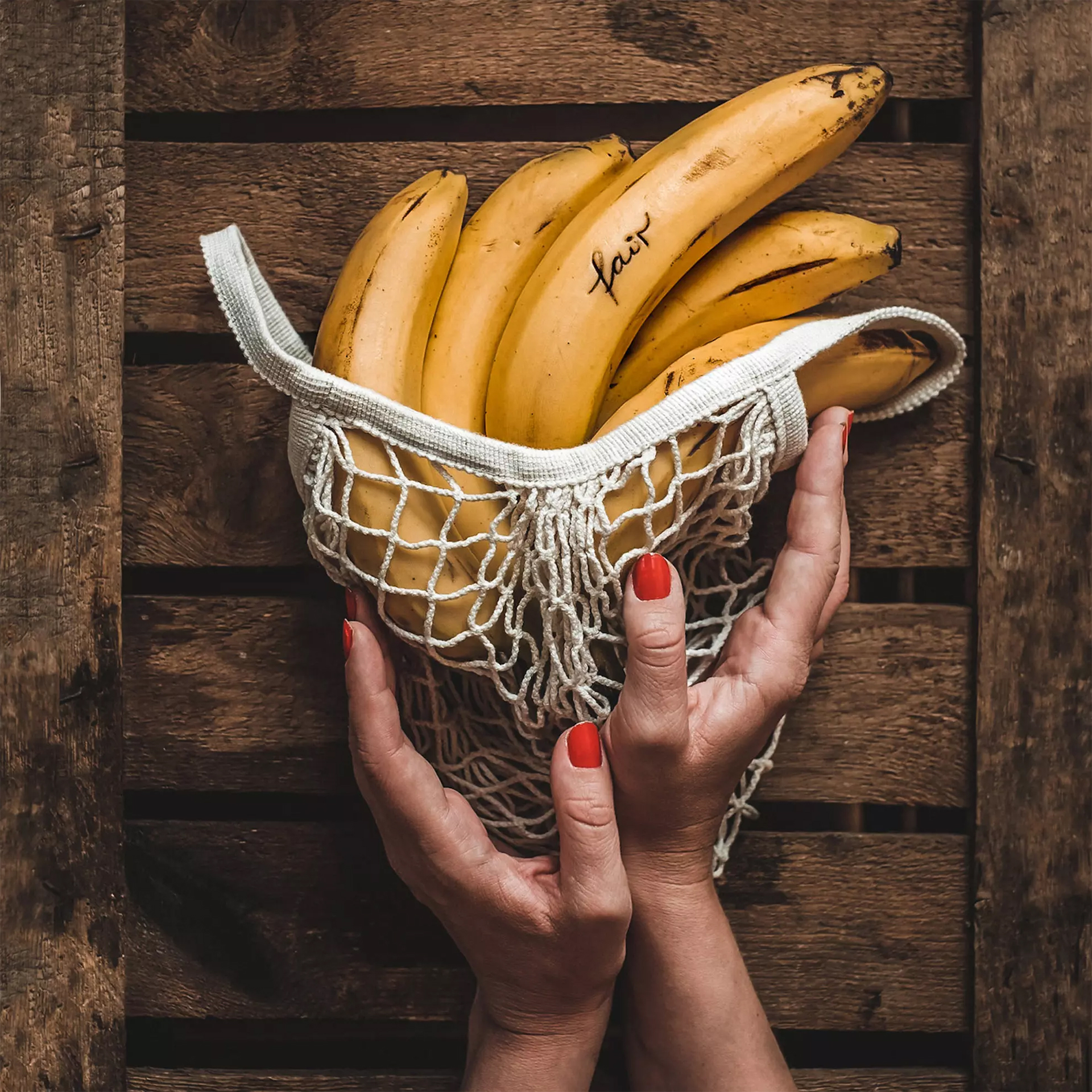 When you find fairtrade certified bananas, make sure you buy lots so you can freeze them to make smoothies later!