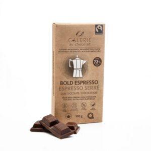 Fair trade espresso dark chocolate (Bold Espresso) by Galerie au Chocolat on the Rosette Network