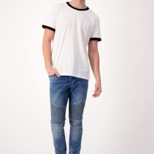 Fair trade accent t-shirt (The Responsible Ringer Tee) by The Good Tee on the Rosette Network