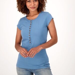 Fair trade button tee (The Sustainable Coconut Button Henley) by The Good Tee on the Rosette Network