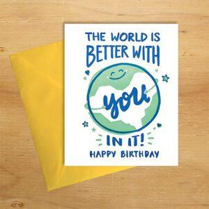 Better World handmade birthday card by Good Paper on Rosette Fair Trade online store
