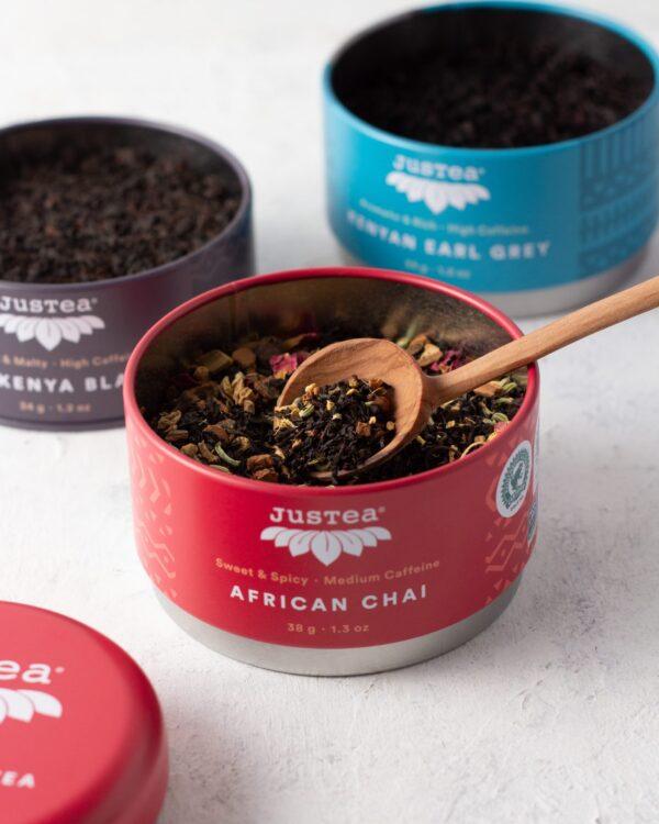 Black Tea Trio (Kenya grown) by JusTea on Rosette Fair Trade online store