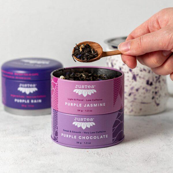 Fair trade Purple Tea Trio by JusTea on Rosette Fair Trade online store