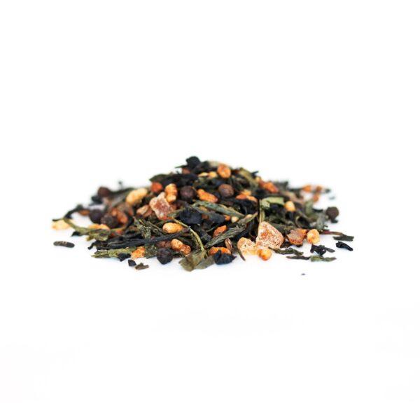 Golden Green fair trade genmaicha tea by JusTea on Rosette Fair Trade online store
