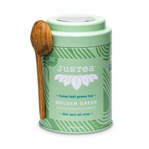 Golden Green genmaicha tea by JusTea on Rosette Fair Trade online store