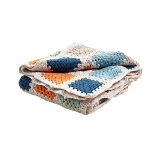 Organic baby blanket (petrol blue) by Pebble Toys on the Rosette Fair Trade online store