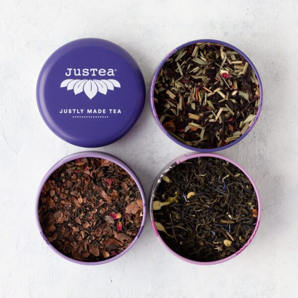 Purple Tea Trio by JusTea on Rosette Fair Trade online store
