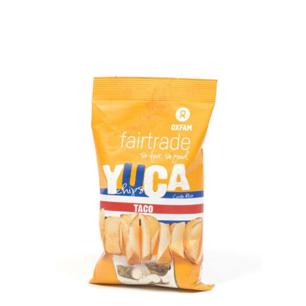 Taco flavoured yuca chips by Oxfam Fair Trade (cassava, manioc) on the Rosette Network online store
